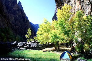 Campsite in Black Canyon